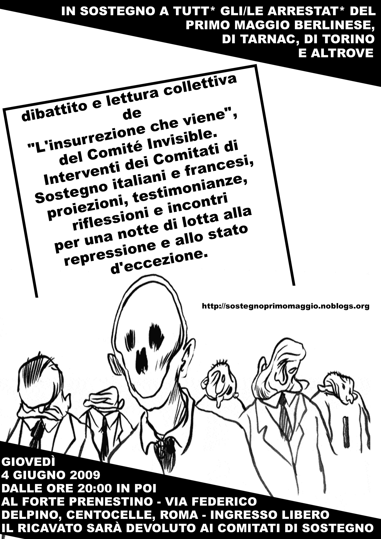 4 giugno 2009 - Forte Prenestino - Dibattito e lettura collettiva de L'insurrezione che viene
